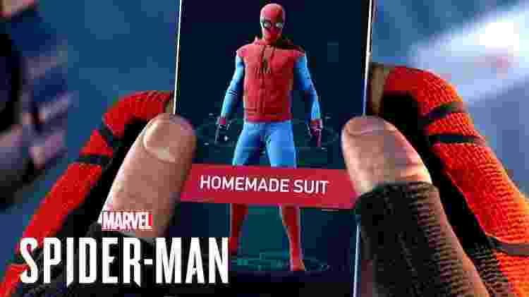 Spider-Man Homemade Suit - Reprodução - Reprodução