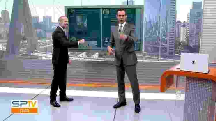 """César Tralli deixou """"no vácuo"""" o consultor de condomínio do """"SP1"""", Marcio Rachkorsky - Reprodução/TV Globo - Reprodução/TV Globo"""