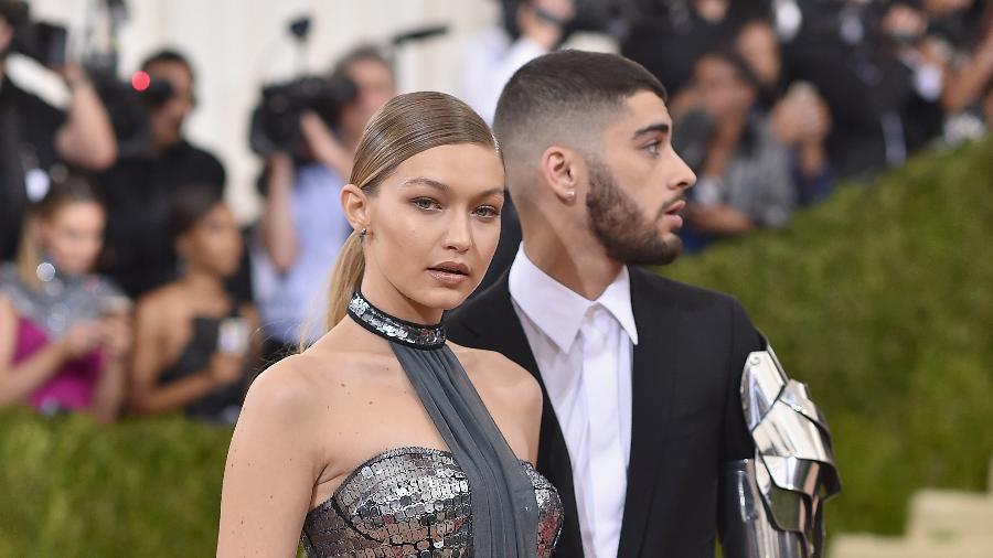 """Gigi Hadid e Zayn Malik  serão pais de uma menina, segundo o """"TMZ"""" - Getty Images"""