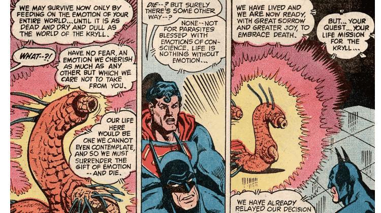 """Batman e Superman enfrentam tentáculos sexuais em """"World's Finest Comics # 289"""" - Reprodução/CBR - Reprodução/CBR"""