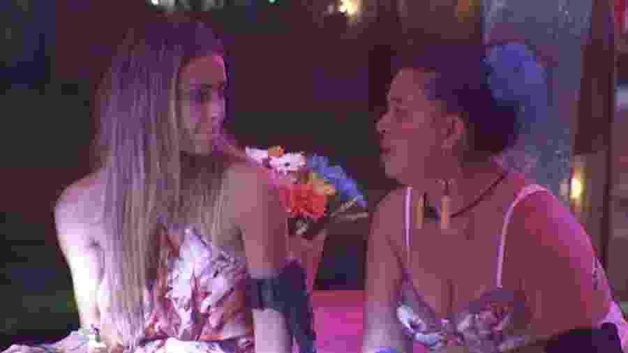 Em conversa, Tereza afirma que estará no próximo paredão - Reprodução/GloboPlay