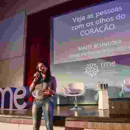 Maitê Schneider em evento do Google sobre empreendedorismo trans, em São Paulo - Arquivo Pessoal