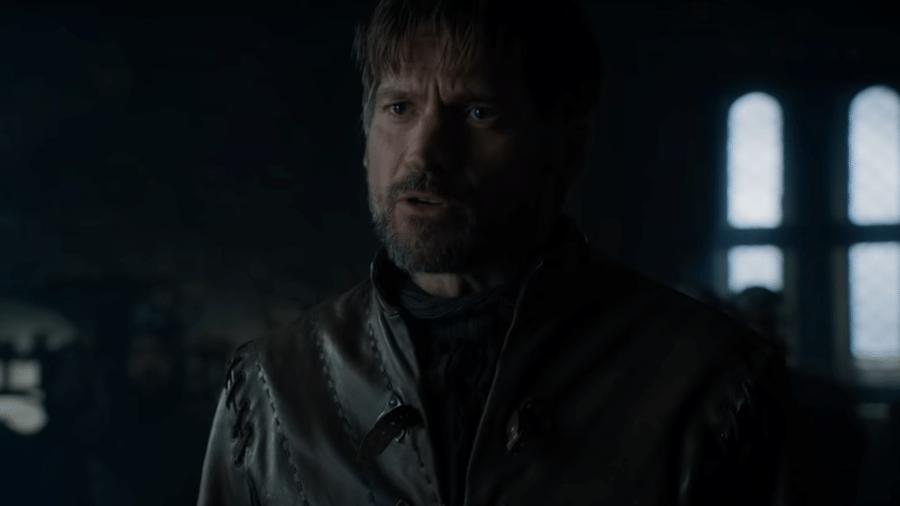 """Nikolaj Coster-Walday como Jaime Lannister em """"Game of Thrones"""" - Reprodução/YouTube"""