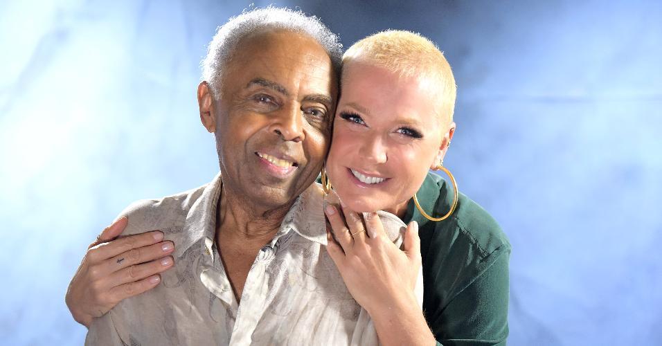 Gilberto Gil e Xuxa em programa