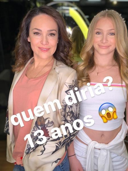 Gabriela Duarte publica foto ao lado da filha Manuela - Reprodução/Instagram