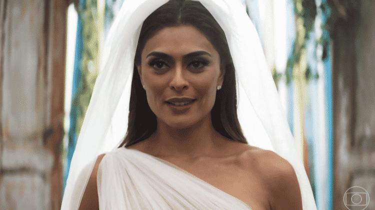 Maria da Paz se casa com Amadeu em A Dona do Pedaço - Reprodução/TV Globo