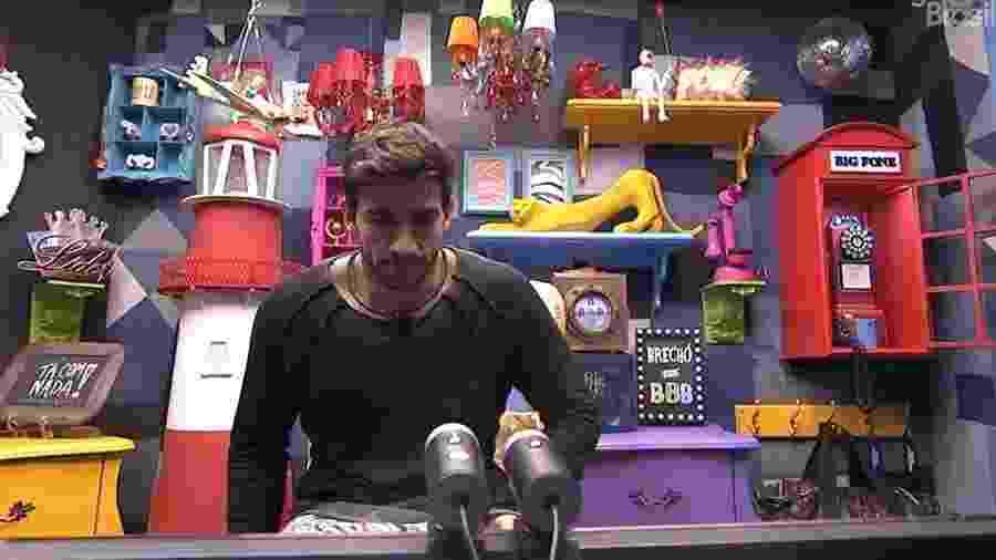 Guilherme no confessionário do BBB 20 - Reprodução/GloboPlay