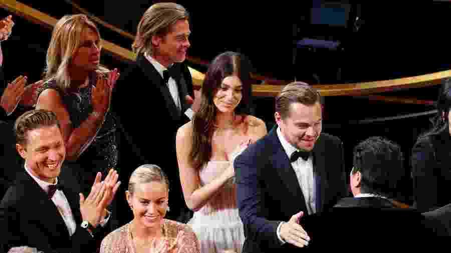 Leonardo DiCaprio e Camila Morrone no Oscar - Getty Images