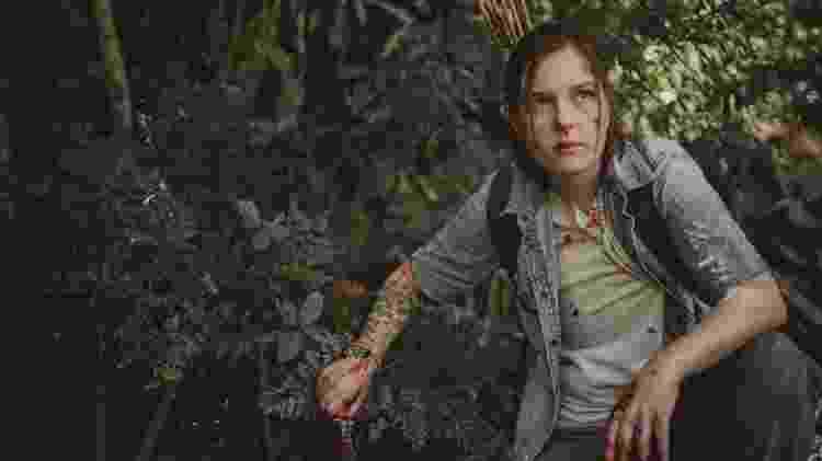 Alice interpreta Ellie, que passa por situações difíceis de combate e sobrevivência - Bruno Nascimento/Divulgação