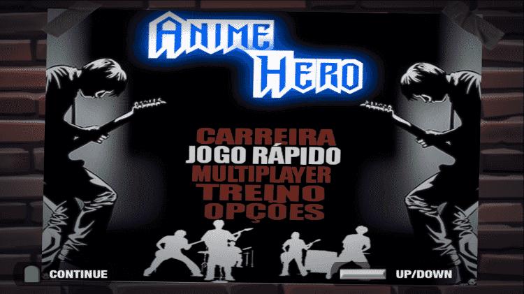 Anime Hero Menu - Reprodução - Reprodução