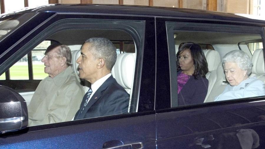 Príncipe Philip guia para família Obama e rainha Elizabeth - Getty Images