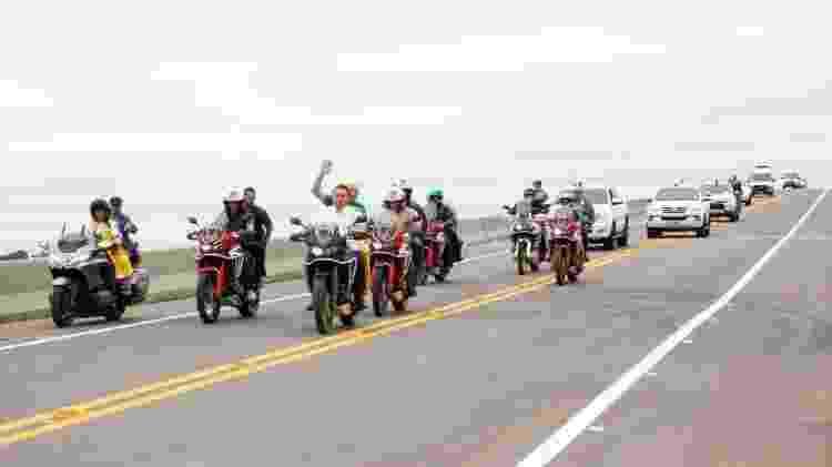 Presidente Bolsonaro andando de moto sem capacete - Planalto/Divulgação - Planalto/Divulgação