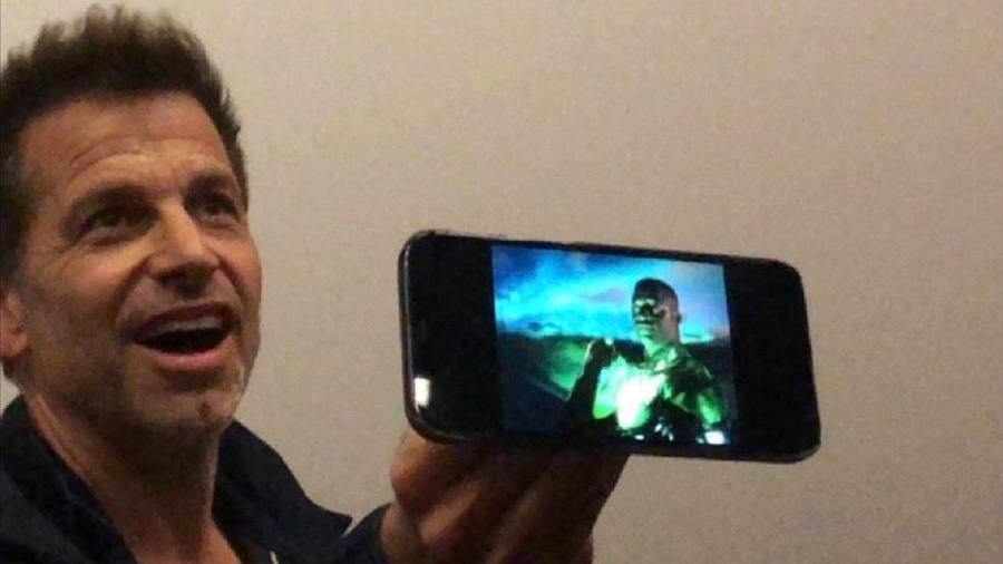 """Zack Snyder mostra Lanterna Verde em cena cortada de """"Liga da Justiça"""" - Reprodução/Twitter"""