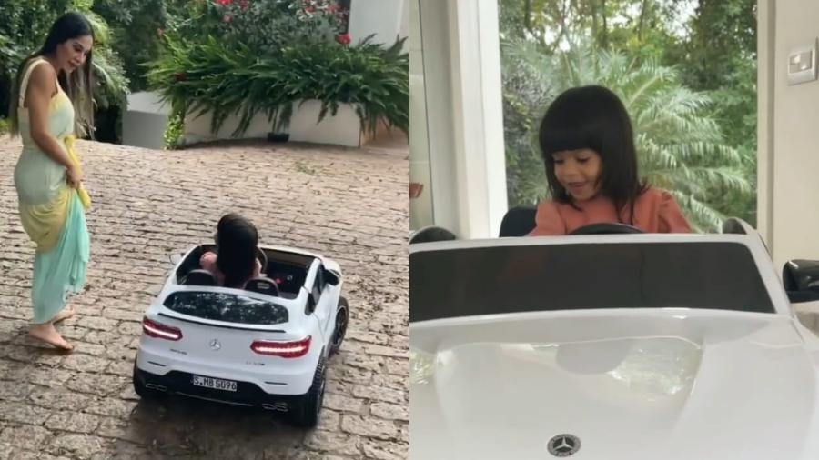 Mayra Cardi presenteia filha com duas miniaturas de carros de luxo - Reprodução/Instagram