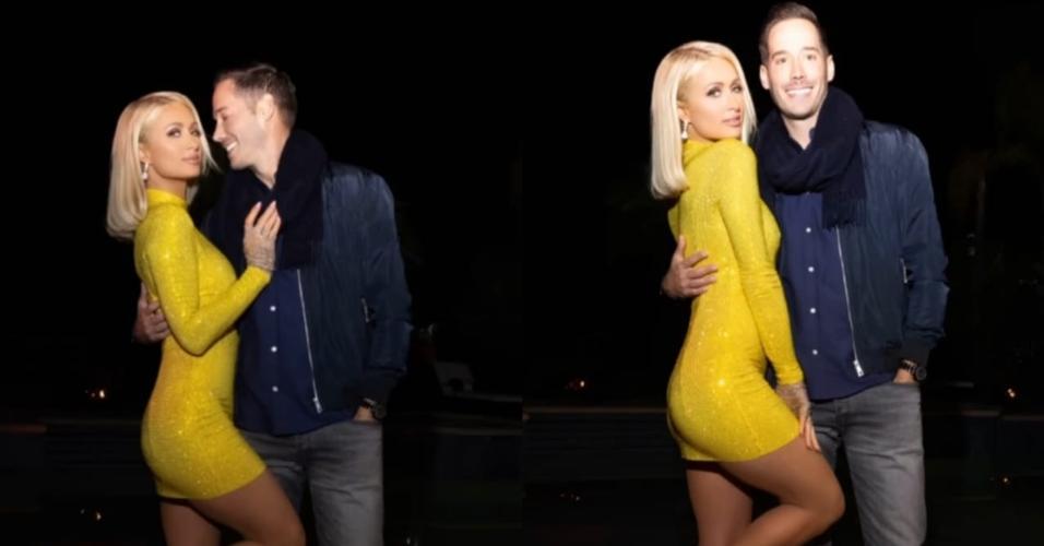 Paris Hilton e o noivo, o empresário Carter Reum