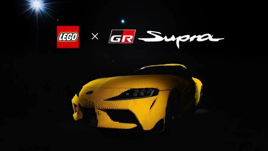 Toyota Supra de Lego - DIvulgação