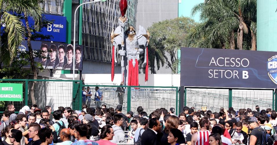 Cerca de doze mil pessoas vieram ao Allianz Parque, em São Paulo, para a final do CBLoL
