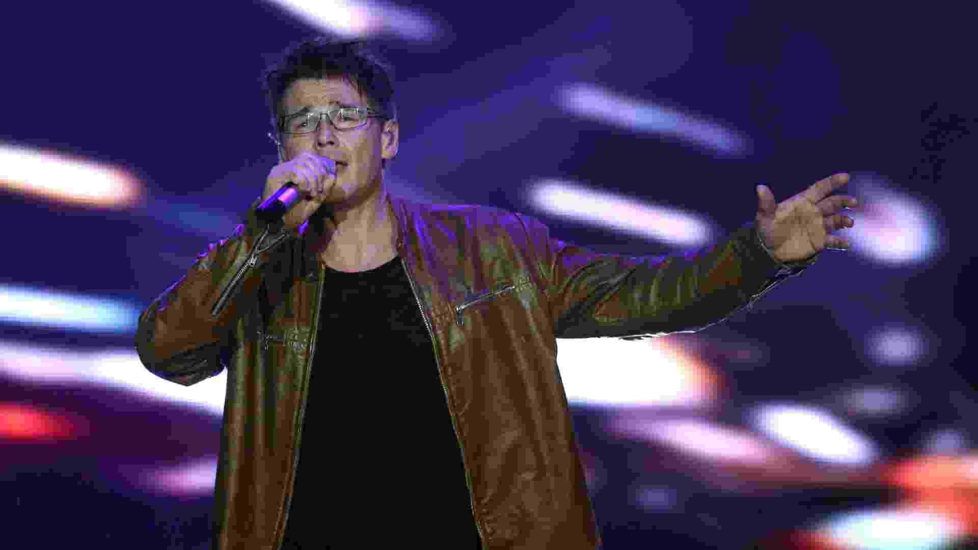27.set.2015 - A banda norueguesa A-ha se apresenta no palco Mundo no último dia do Rock in Rio 2015 - Fernando Maia/UOL