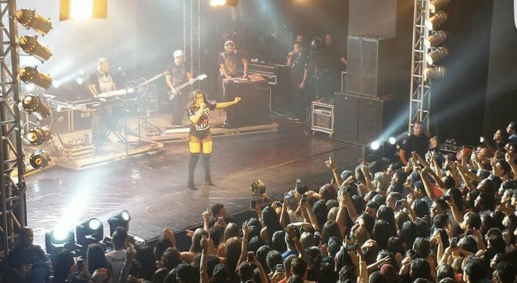 26.dez.2015 - Anitta faz show em Rio Branco, capital do Acre. Estado esteve envolvido em polêmica na época do lançamento do clipe da música, em outubro