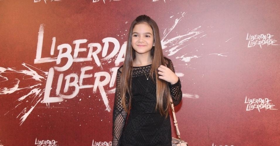 """31.mar.2016 - Mel Maia comparece à festa de lançamento da novela """"Liberdade Liberdade"""", em São Conrado, no Rio de Janeiro"""