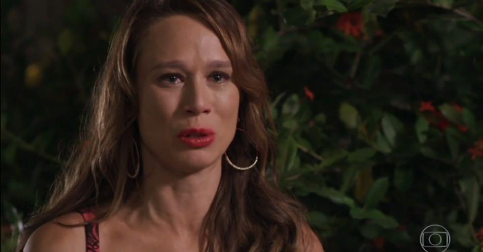 """Tancinha (Mariana Ximenes) descobre que seu pai foi assassinado a mando da família Abdala na estreia de """"Haja Coração"""""""