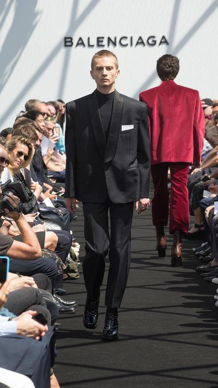 Desfile da Balenciaga na Semana de Moda Masculina de Paris - Divulgação