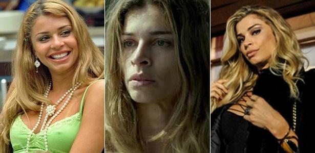 """Grazi no """"BBB""""; como Larissa, em """"Verdades Secretas""""; e Luciane em """"A Lei do Amor"""" - Divulgação/TV Globo"""