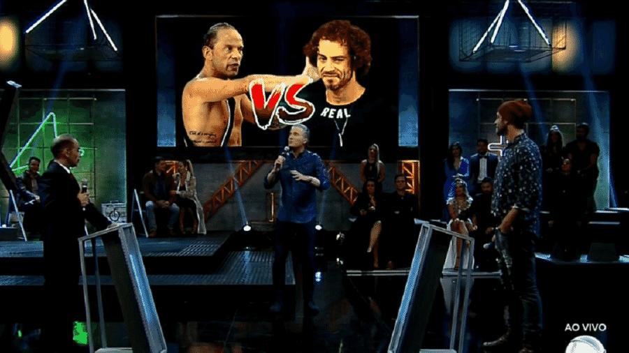 """Rafael Ilha e Diego Cristo discutem na final do """"Power Couple"""" - Reprodução/TV Record"""