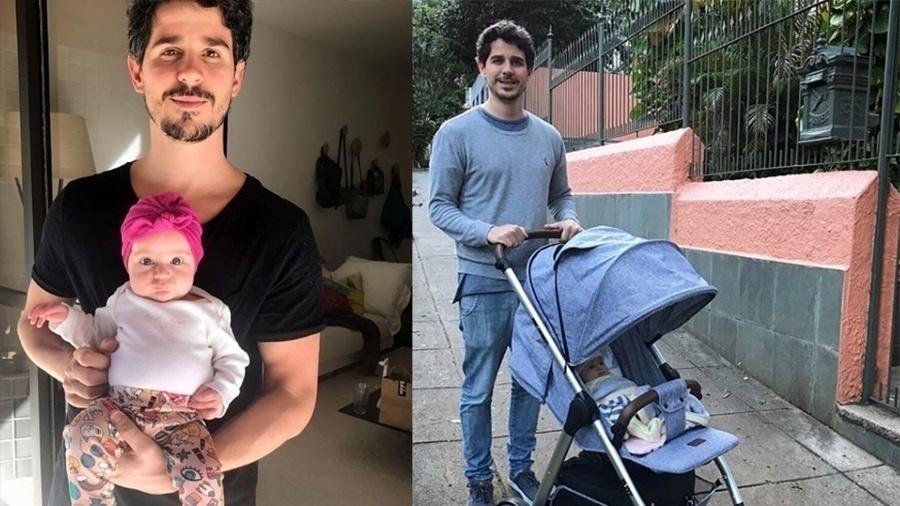 """Pai participativo, o ator tem aproveitado bastante a chegada de Carolina, fruto do seu casamento com Vitoria Frate. Em seu Instagram, Pedro compartilha momentos com sua herdeira. """"Aquele orgulho de ser pai da menina mais linda do mundo"""""""