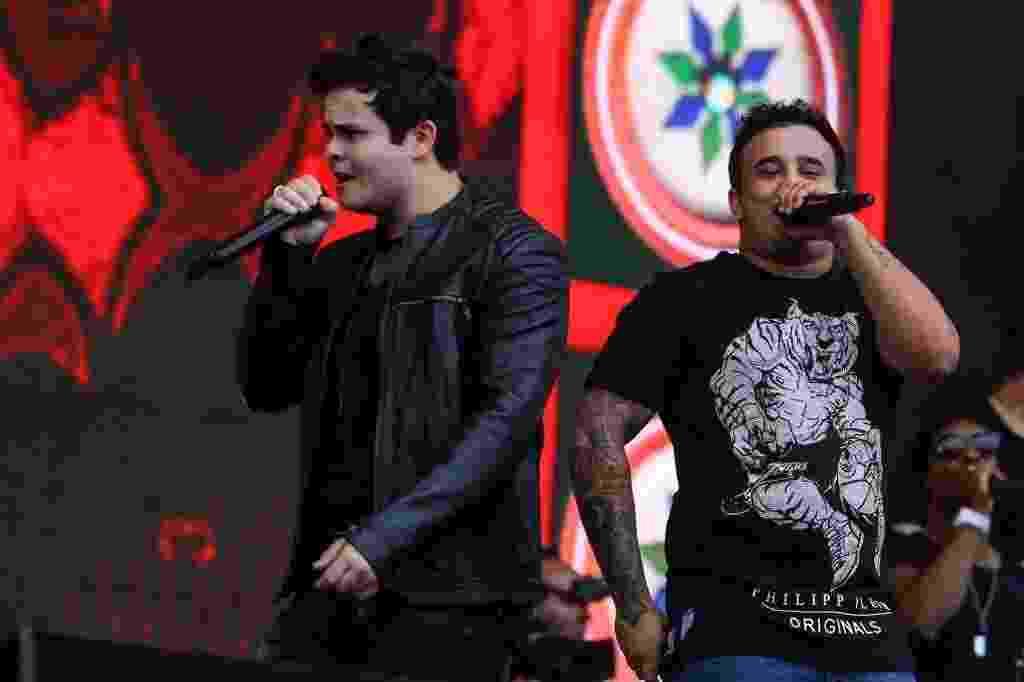 Matheus e Kauan se apresentam no VillaMix Festival São Paulo, no Estádio do Morumbi - Amanda Perolei/UOL