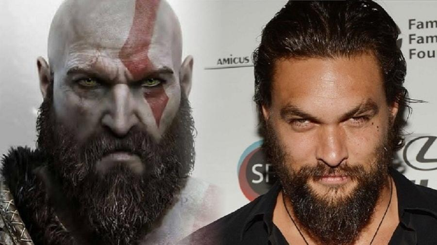 Kratos e Jason Momoa - Reprodução