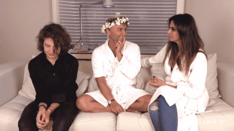 Luciana Gimenez e Lucas Jagger dão entrevista para Matheus Mazzafera - Reprodução/YouTube