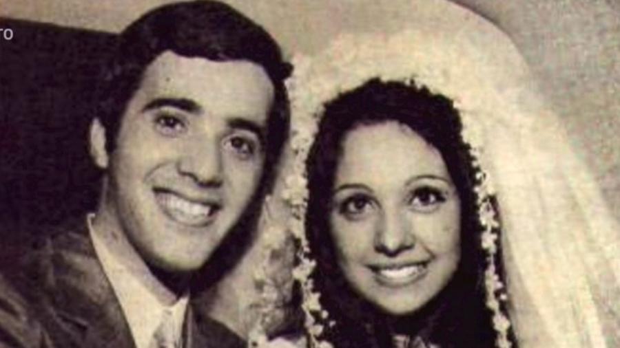 Túnel do tempo: Tony Ramos e Lidiane Barbosa em foto antiga - Reprodução/Globo