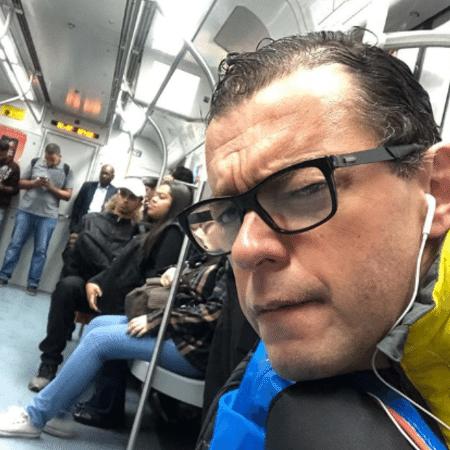 Fernando Rocha no metrô de SP - Reprodução/Instagram