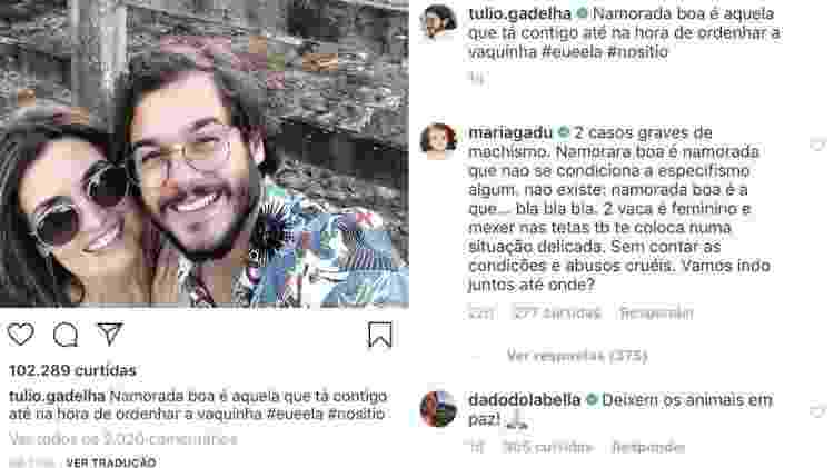 Maria Gadú justifica comentário polêmico em foto de Túlio Gadêlha e Fátima Bernardes - Reprodução/Instagram - Reprodução/Instagram