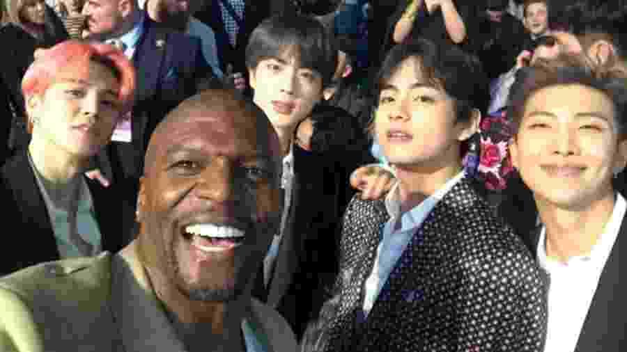 Terry Crews faz selfie com o BTS no Billboard Music Awards - Reprodução/Twitter
