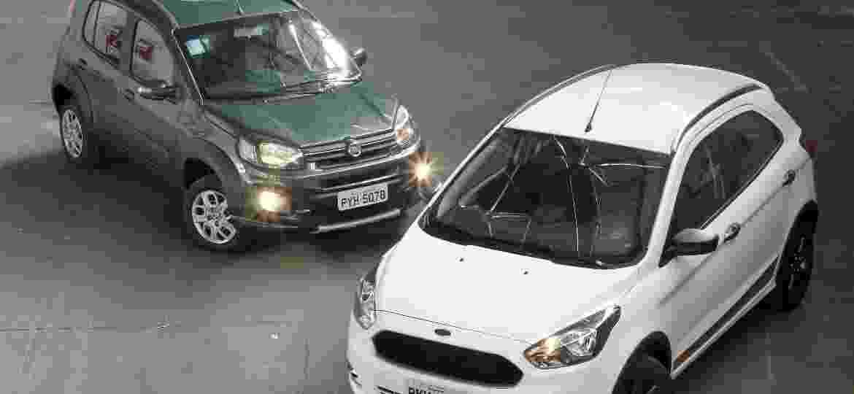 Comparativo entre os modelos Fiat Uno Way e Ford Ka Trail - Ivan Ribeiro/Folhapress