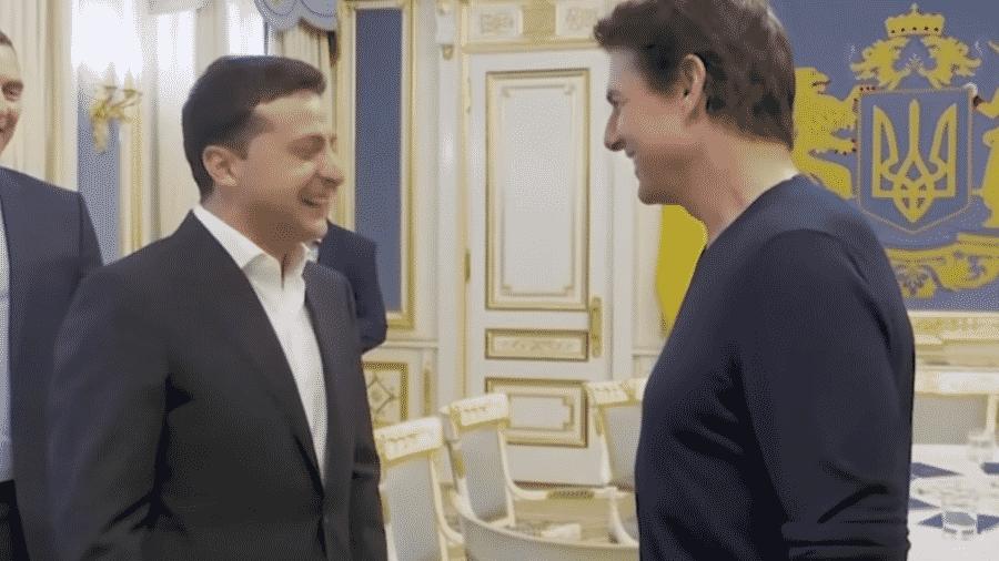 Presidente Volodymyr Zelensky tem reunião com Tom Cruise - Reprodução/YouTube