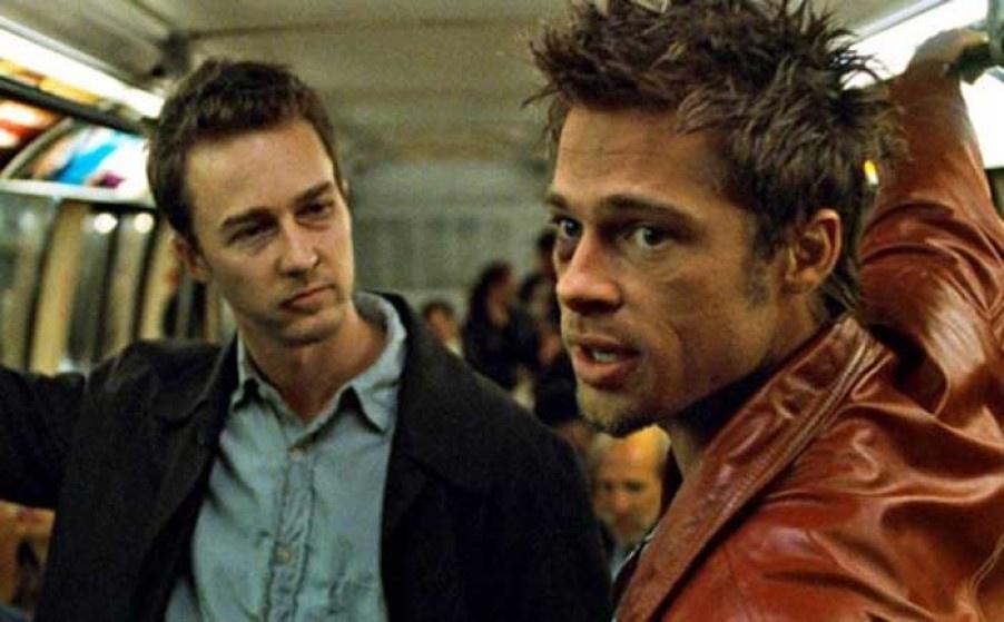 """Edward Norton: Brad Pitt """"sempre tinha um baseado"""" no set de Clube ..."""