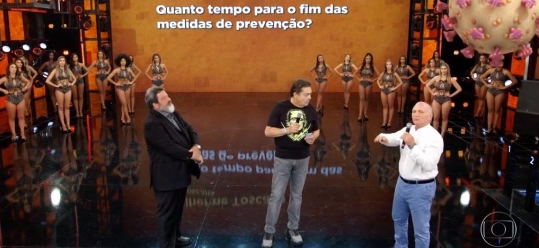 """""""Domingão do Faustão"""" é exibido pela primeira vez sem plateia - Reprodução/TV Globo"""