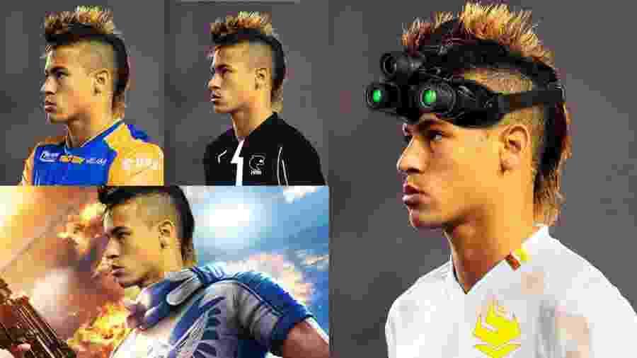 Neymar ganhou versões de Rainbow Six, Free Fire, além de times como Rensga e FURIA - Reprodução/Twitter