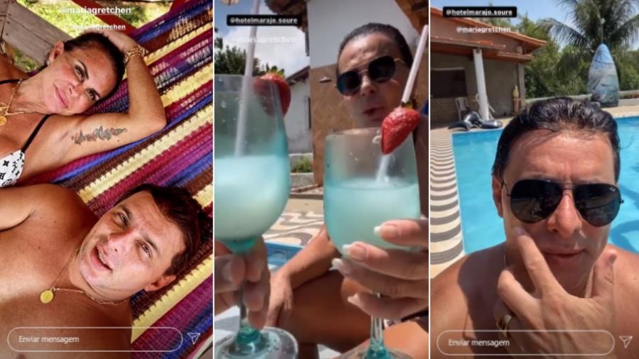 Gretchen e Esdras de Souza estão em lua de mel no Pará - Reprodução/Instagram