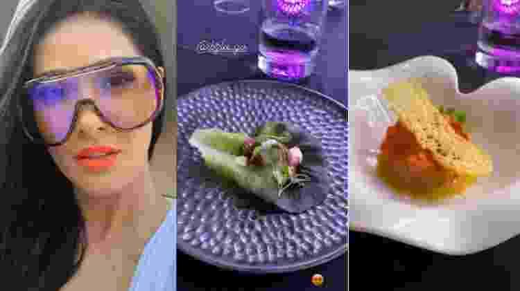 Simaria mostra pratos gastronômicos em jantar com o marido e amigos - Reprodução/Instagram - Reprodução/Instagram