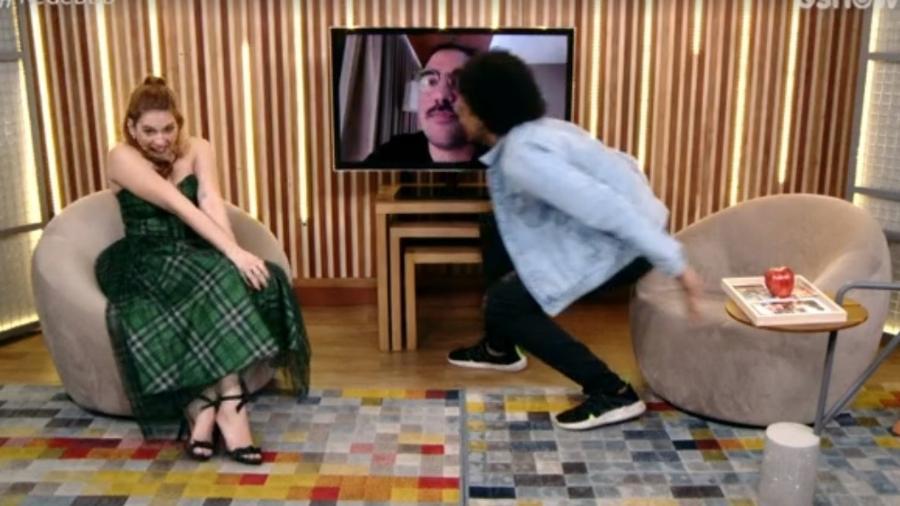 BBB 21: João beija namorado e Ana Clara vibra com o casal - Reprodução/Globoplay