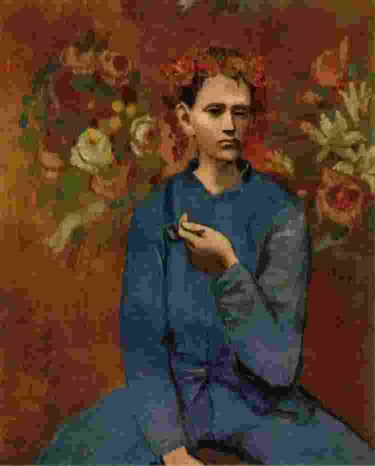 'Rapaz com Cachimbo', de Pablo Picasso - Reprodução/Twitter - Reprodução/Twitter