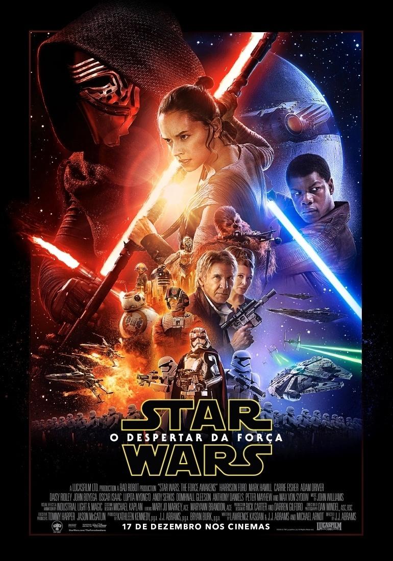 """Pôster oficial de """"Star Wars: Episódio VII - O Despertar da Força"""""""