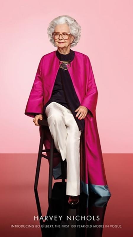 """Bo Gilbert em foto para a campanha veiculada na """"Vogue"""" britânica - Reprodução/Vogue"""