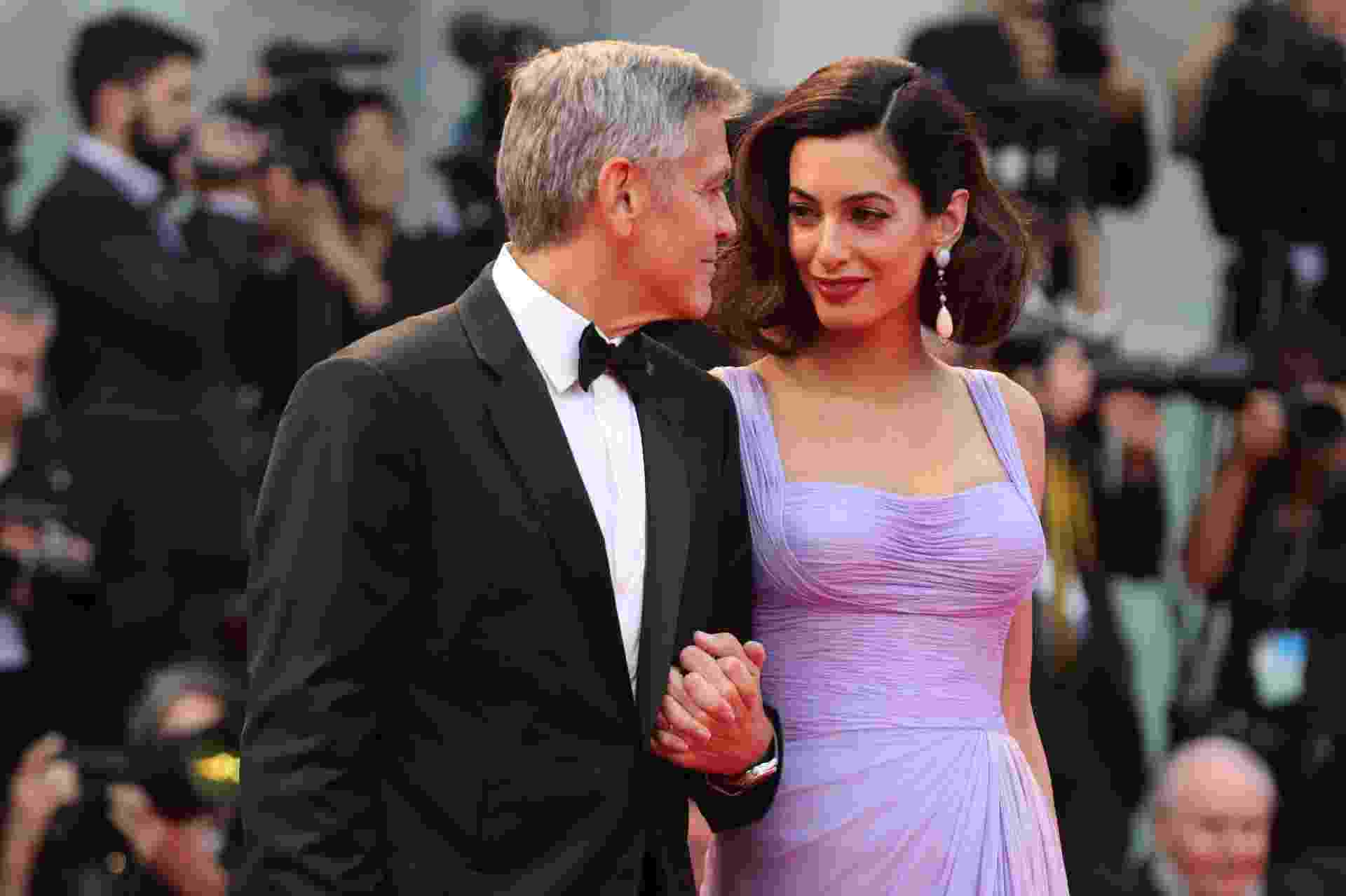 george clooney amal olhares veneza - Getty Images