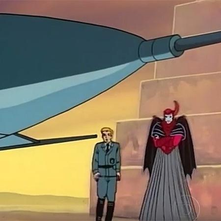 Vingador e o piloto nazista no episódio mais diferente de Caverna do Dragão - Reprodução