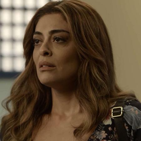 Bibi (Juliana Paes) vai ser presa após confessar o incêndio no restaurante de Dantas (Edson Celulari) - Reprodução/A Força do Querer/GShow